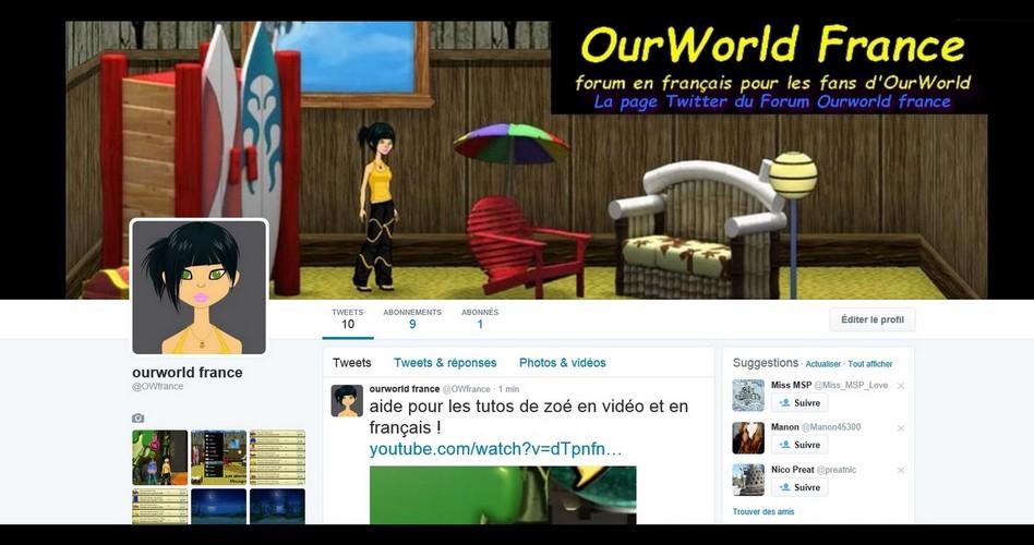 OurWorld France la page Twitter du forum  Twitte10