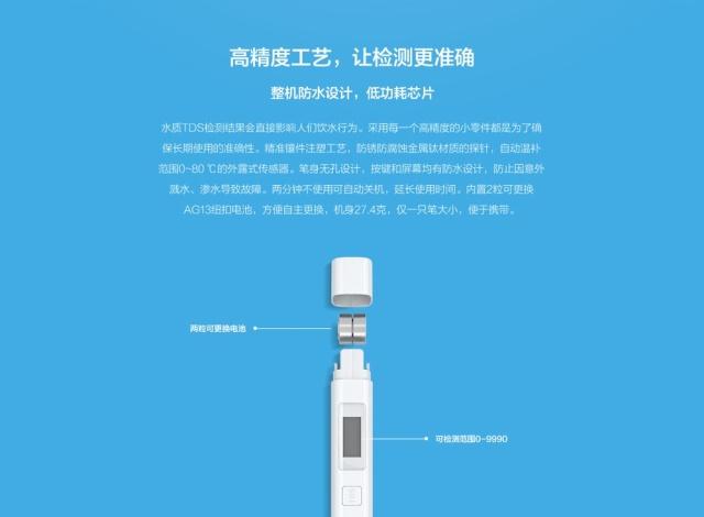 Misuratore digitale purezza acqua Judqj210