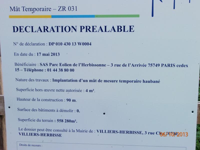 Mât de Mesure Déclaration ou PC Pa060010