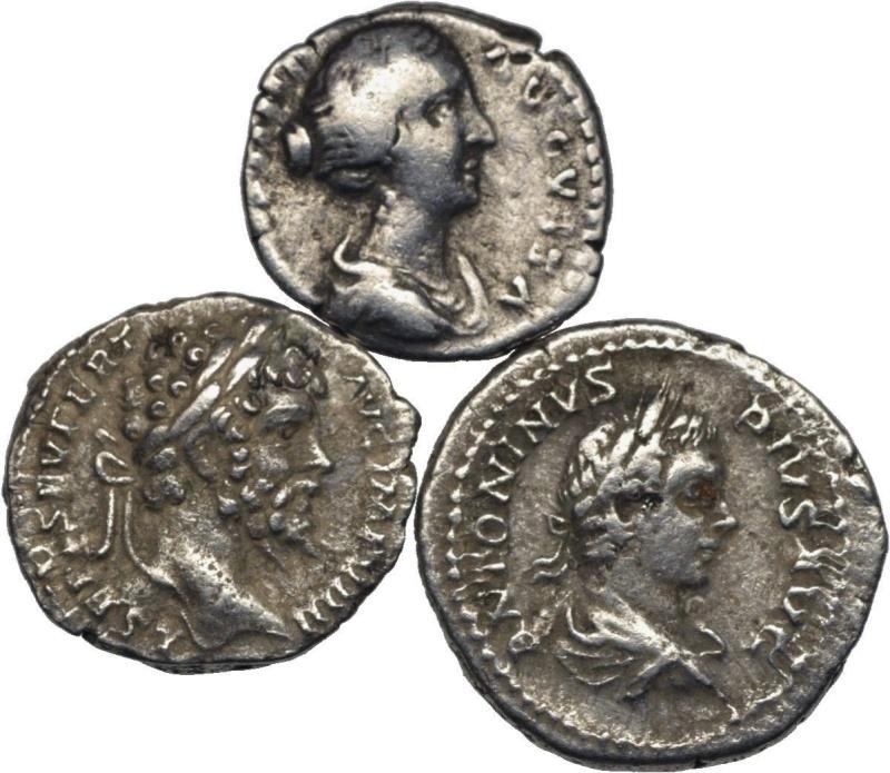denier Faustine jeune Caracalla Septime Severe Lot2a10