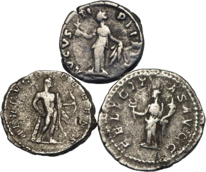 denier Faustine jeune Caracalla Septime Severe Lot2b10