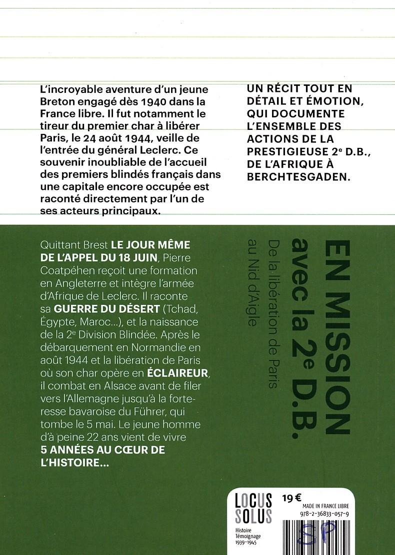 """Pierre Coatpehen """"En mission avec la 2e DB"""" (livre) Coatpy10"""
