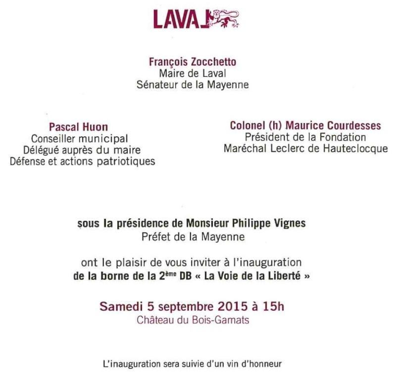 Borne du serment de Koufra: LAVAL (53) Laval210