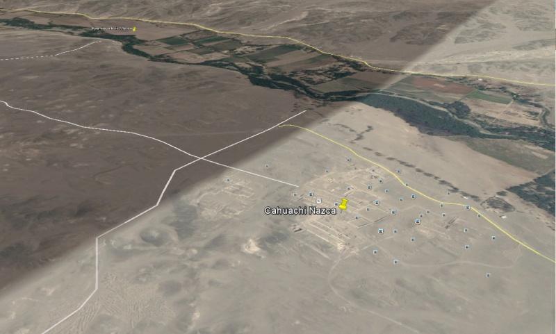 [Nazca] Cahuachi à coté du plateau de Nazca Cahuac10