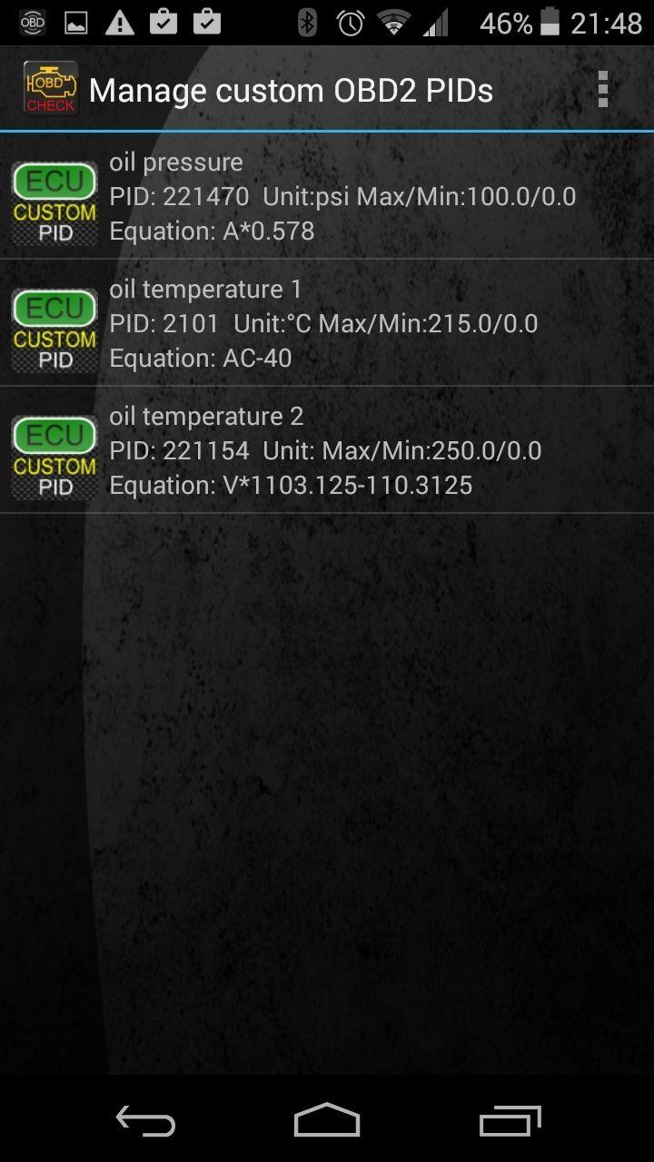 [TORQUE] Quel PID pour visualiser la température d'huile ? Screen10