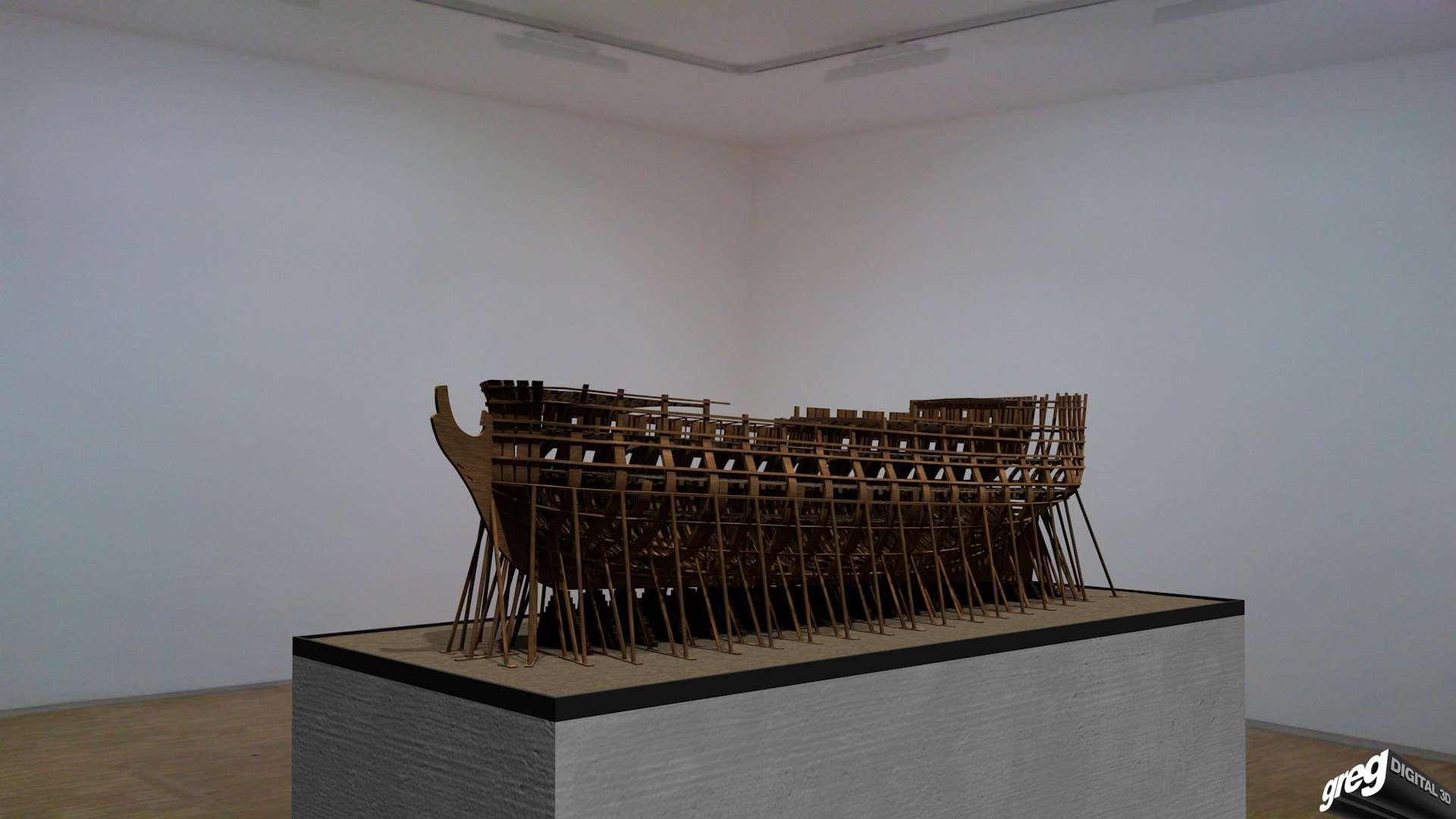 Etapes de construction 3D d'un navire de 74 canons. Vaisse15