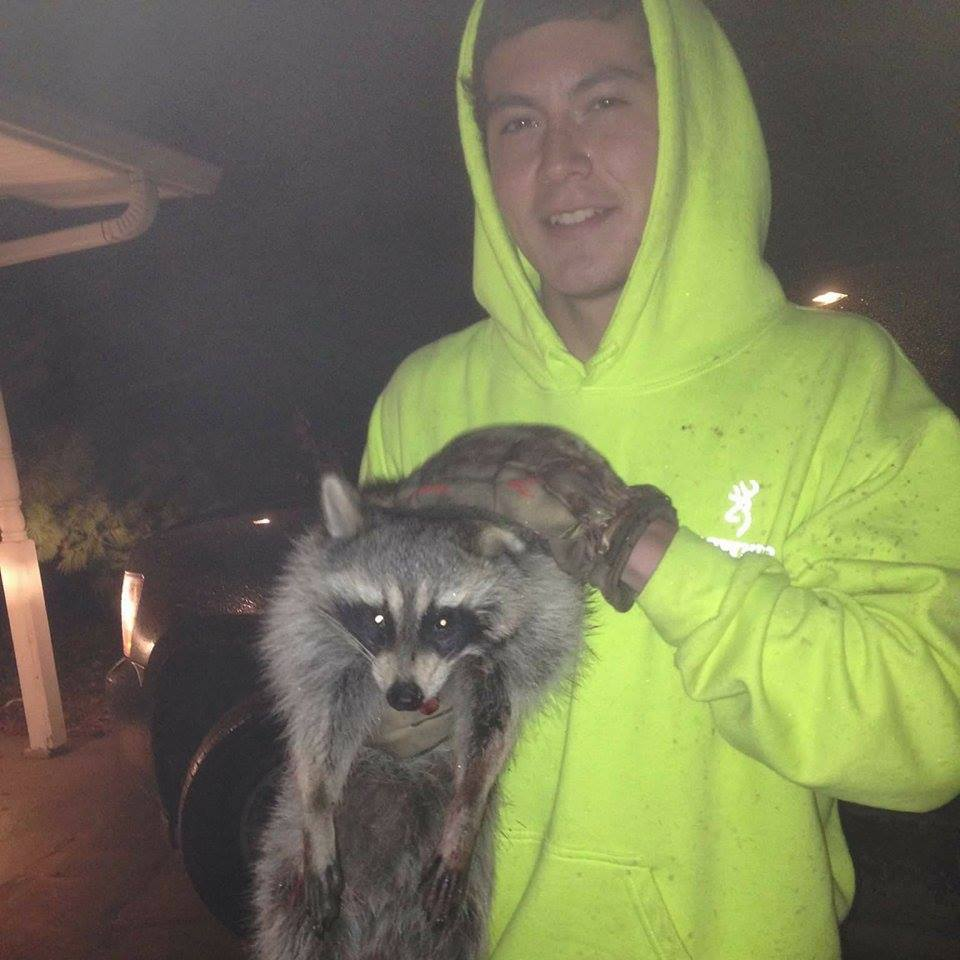 Me and my new pet..Fan photo Coon_p10