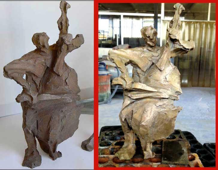 patine sur bronze à refaire Patine12