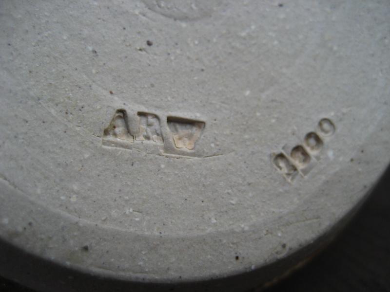 Egg shaped mid brown glaze. 'ARV 2000' mark Img_0350