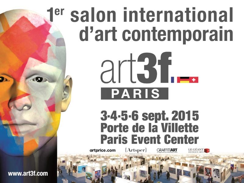 Le salon international d'art contemporain Art3f à Paris !  Affich12