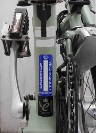 Gravure sur un Brompton [Bicycode ou numéro national] - Page 3 B11