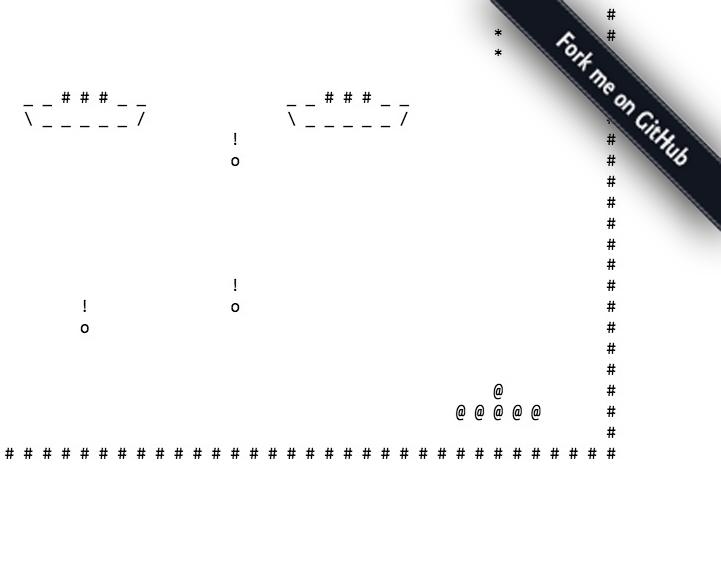 JSpaceInvaders: Gioco in ASCII art in puro JavaScript Scherm12