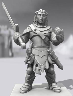 Galerie de Personnages 3D Hero Forge Manesh10