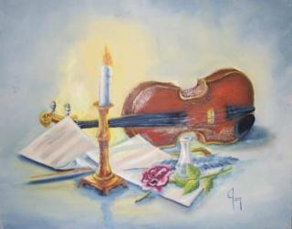 Pour encourager la reine au violon Serena10