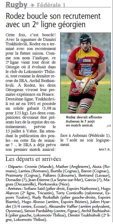 Stade Rodez Aveyron Rugby- Saison 2015-2016 Recrut12