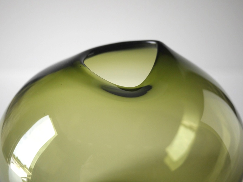Green Glass vase - similar to Holmegaard/Lutken Drop Green_14