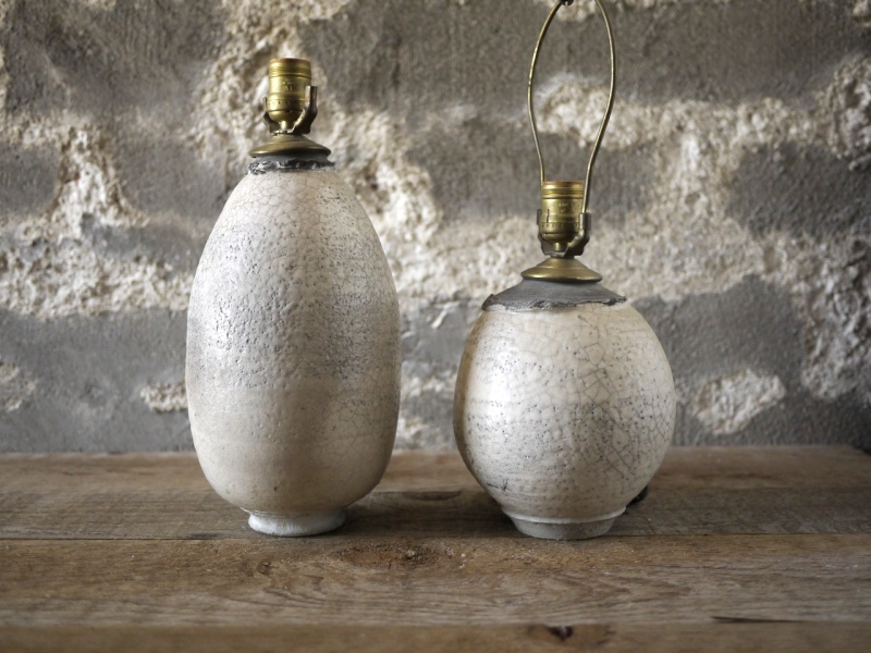 Raku crackle glazed lamp bases Raku_l10