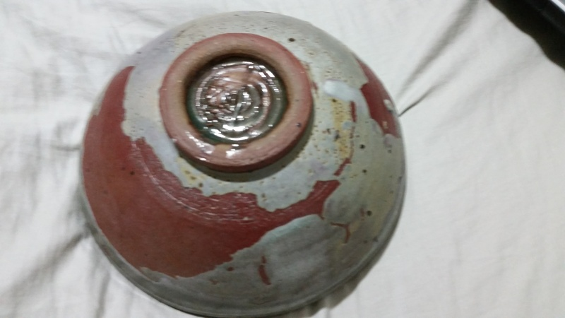 red clay pottery bowl, signed id help  20150727