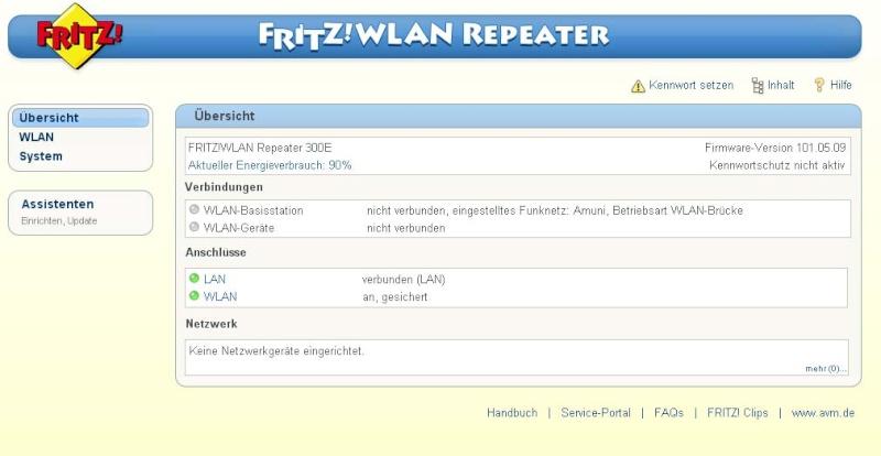 Fritz wlan repeater con modem adsl2+ della telecom Fritz10