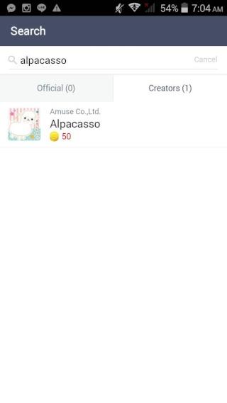 LINE Alpacasso Stickers by Amuse 1666912