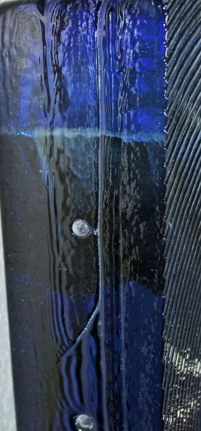"30"" x 12"" x 4"" Huge Art Glass monolithic blue  Img_0820"