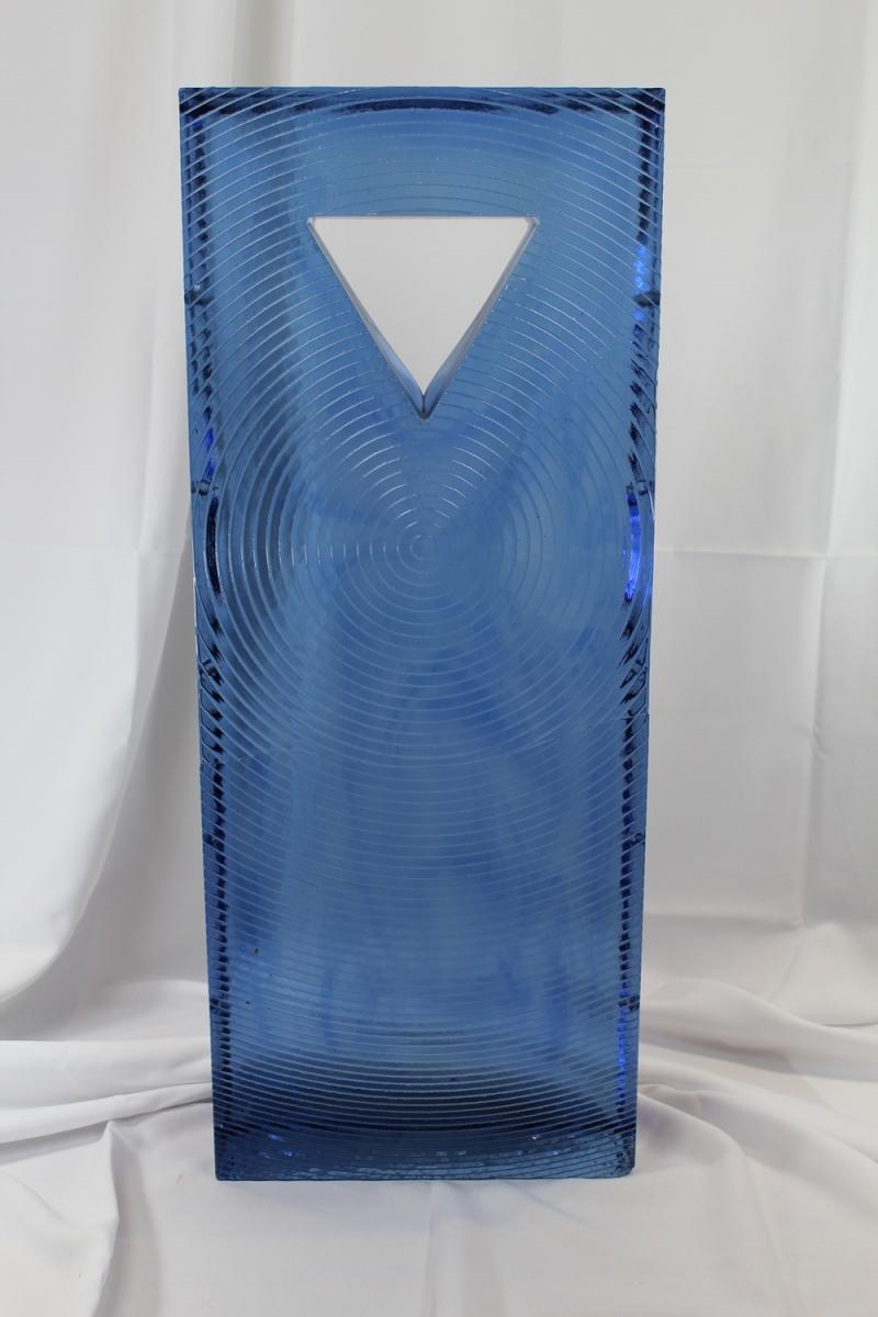 "30"" x 12"" x 4"" Huge Art Glass monolithic blue  Img_1212"