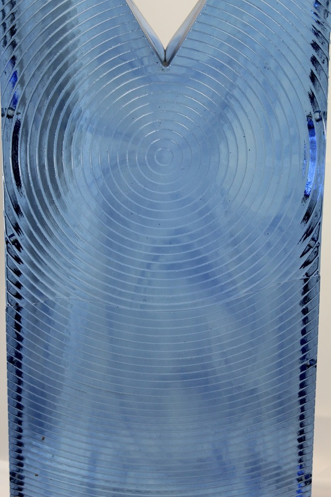 "30"" x 12"" x 4"" Huge Art Glass monolithic blue  Img_1213"