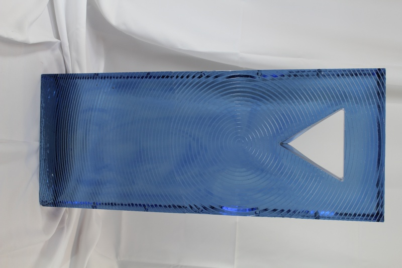 "30"" x 12"" x 4"" Huge Art Glass monolithic blue  Img_1217"