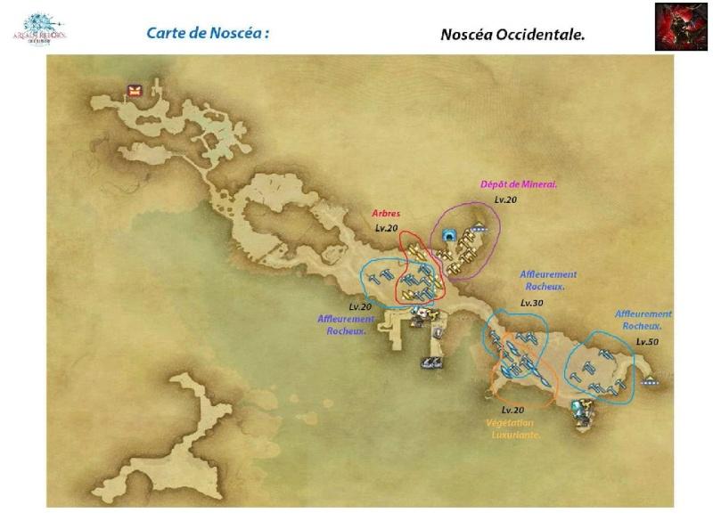 Sites de récolte de la Noscéa Noscea12