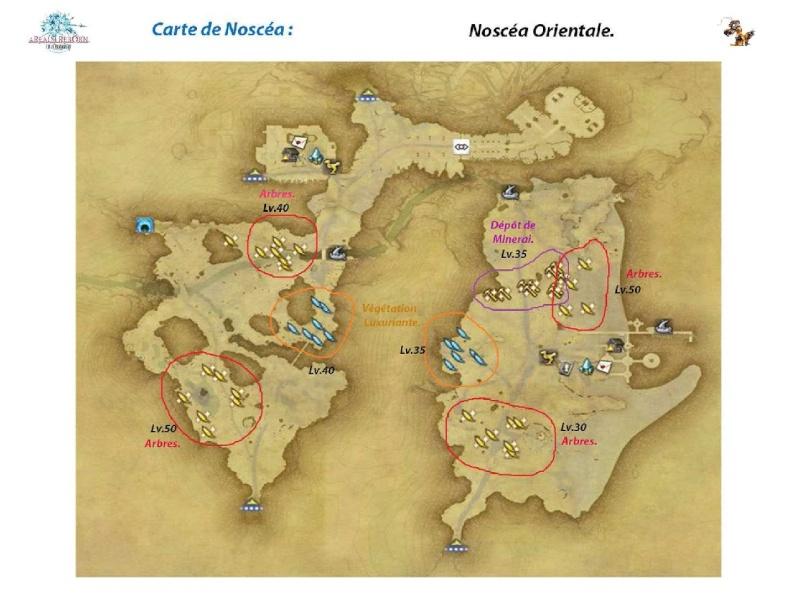 Sites de récolte de la Noscéa Noscea13