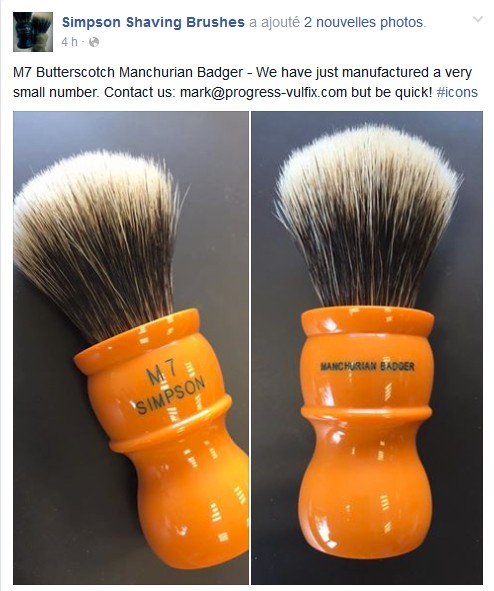 Simpson M7 Butterscotch Manchurian Badger Facebo10