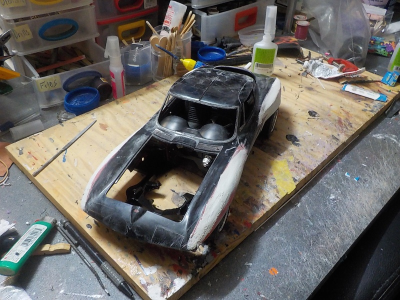 1/12 Vette  Paint and mock-up Putty_10