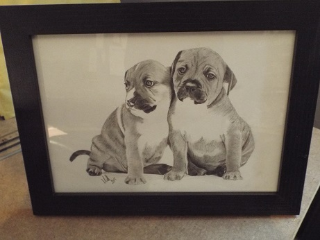 My latest staffie drawing 110