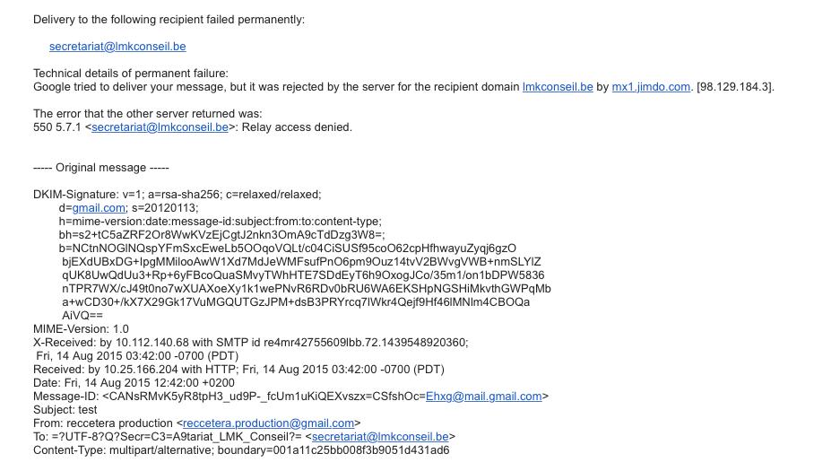 problème adresse mail conflit mise en ligne  Captur16
