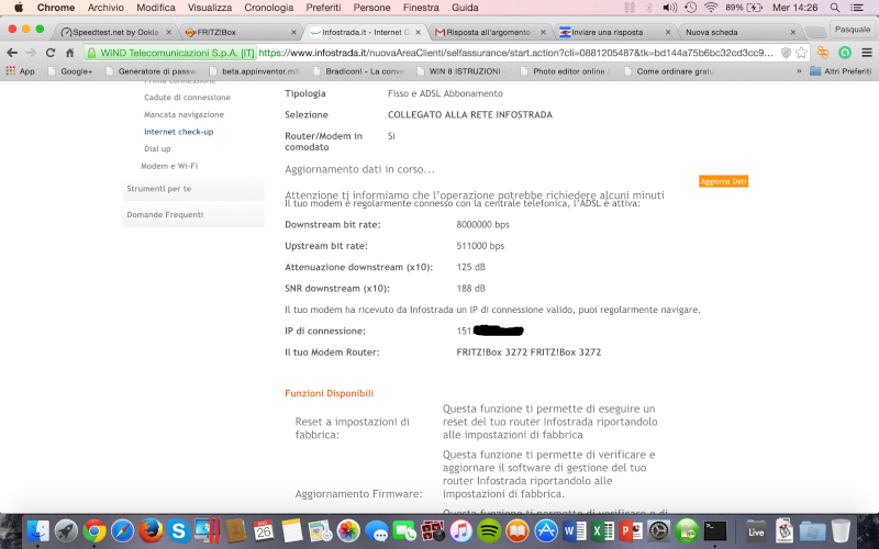 FritzBox 3270 ITA ed Infostrada Scherm21