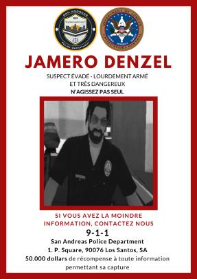 Communiqué de presse #SAPDNEWS040920 • Avis de recherche de Jamero DENZEL. Recher10