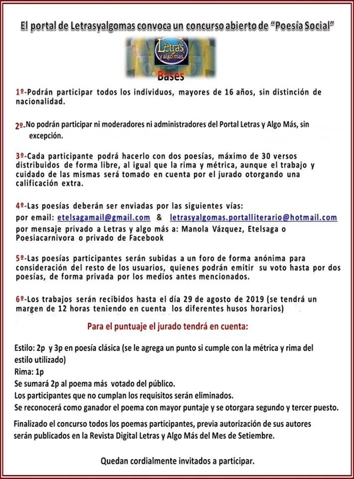 CONCURSO POESÍA SOCIAL  Concur12
