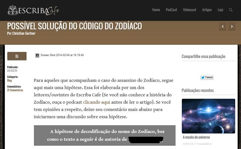 Assassino do Zodíaco DESVENDADO!!!! Zodiac12