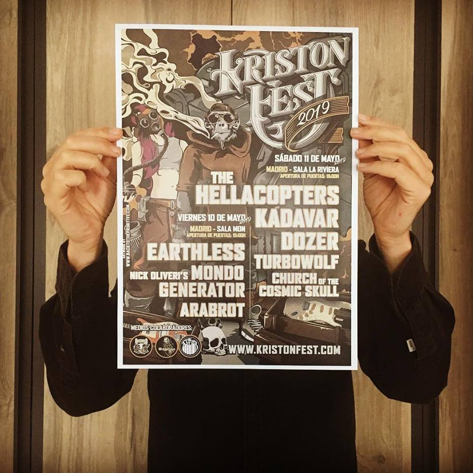 KRISTONFEST (10+11 Mayo, 2019) The Hellacopters, Earthless, Kadavar, Dozer, Nick Oliveri's Mondo Generator, Turbowolf, Church Of The Cosmic Skull y Arabrot 56657210