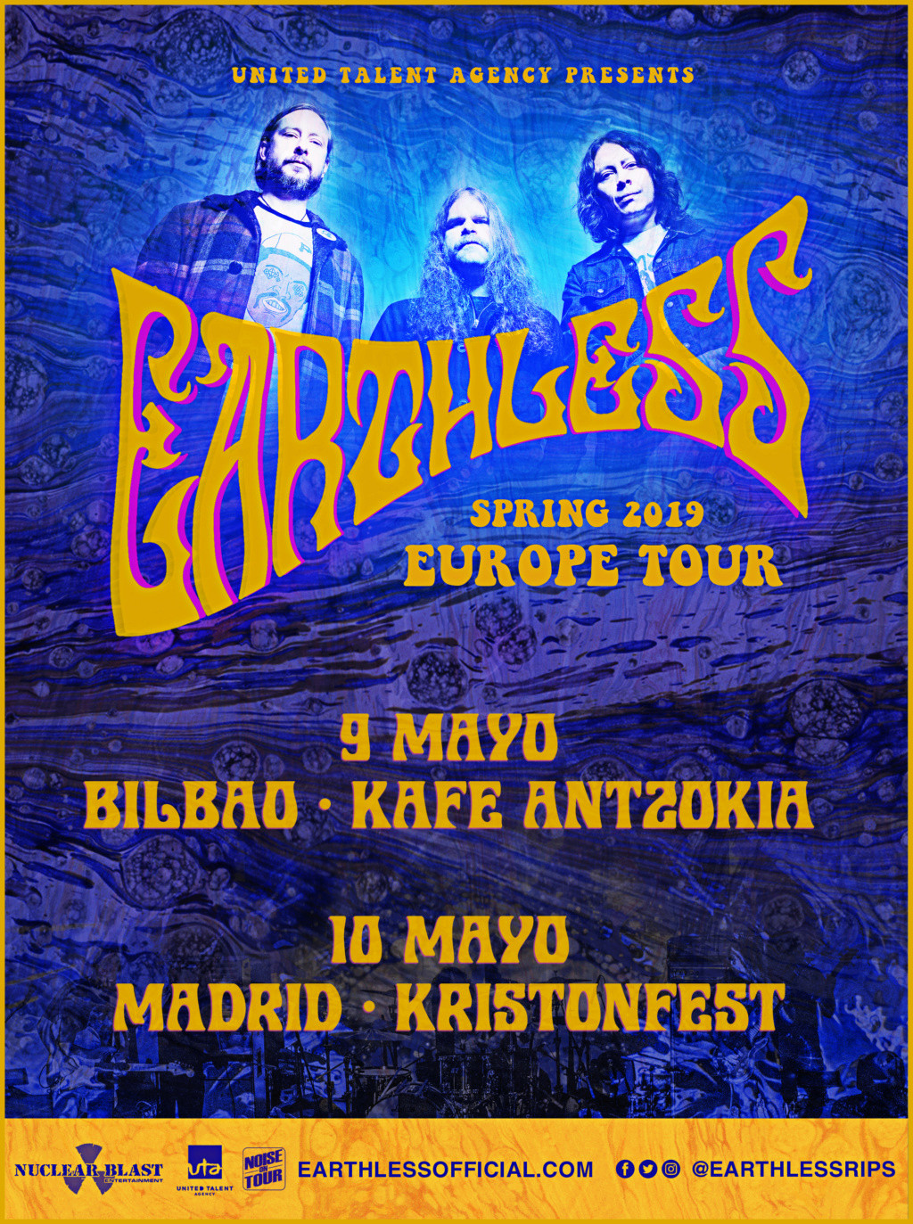 KRISTONFEST (10+11 Mayo, 2019) The Hellacopters, Earthless, Kadavar, Dozer, Nick Oliveri's Mondo Generator, Turbowolf, Church Of The Cosmic Skull y Arabrot - Página 8 Earthl10