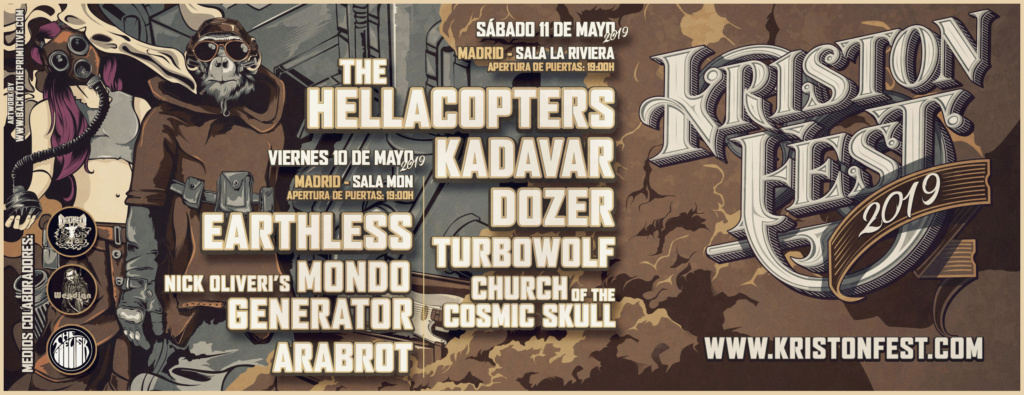 KRISTONFEST (10+11 Mayo, 2019) The Hellacopters, Earthless, Kadavar, Dozer, Nick Oliveri's Mondo Generator, Turbowolf, Church Of The Cosmic Skull y Arabrot - Página 5 Facebo10