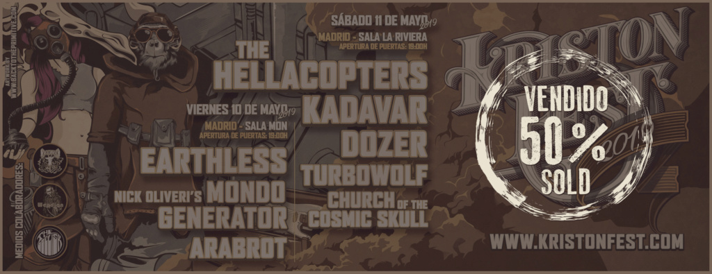KRISTONFEST (10+11 Mayo, 2019) The Hellacopters, Earthless, Kadavar, Dozer, Nick Oliveri's Mondo Generator, Turbowolf, Church Of The Cosmic Skull y Arabrot - Página 10 Facebo15