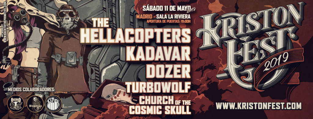 KRISTONFEST (10+11 Mayo, 2019) The Hellacopters, Earthless, Kadavar, Dozer, Nick Oliveri's Mondo Generator, Turbowolf, Church Of The Cosmic Skull y Arabrot - Página 4 Facebo18