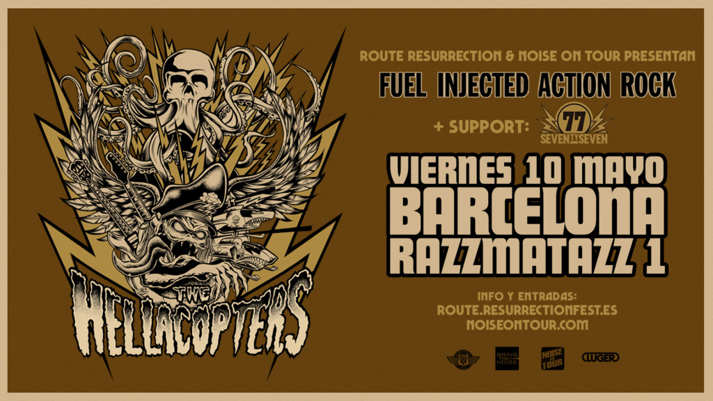 ¡VUELVEN THE HELLACOPTERS A BARCELONA! 10/Mayo - Razzmatazz 1 Hellac13