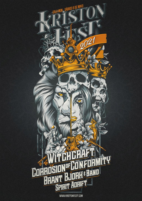 KRISTONFEST 2021 | Madrid, Sábado 8 Mayo | WITCHCRAFT + CORROSION OF CONFORMITY + BRANT BJORK & BAND + SPIRIT ADRIFT K21_a312
