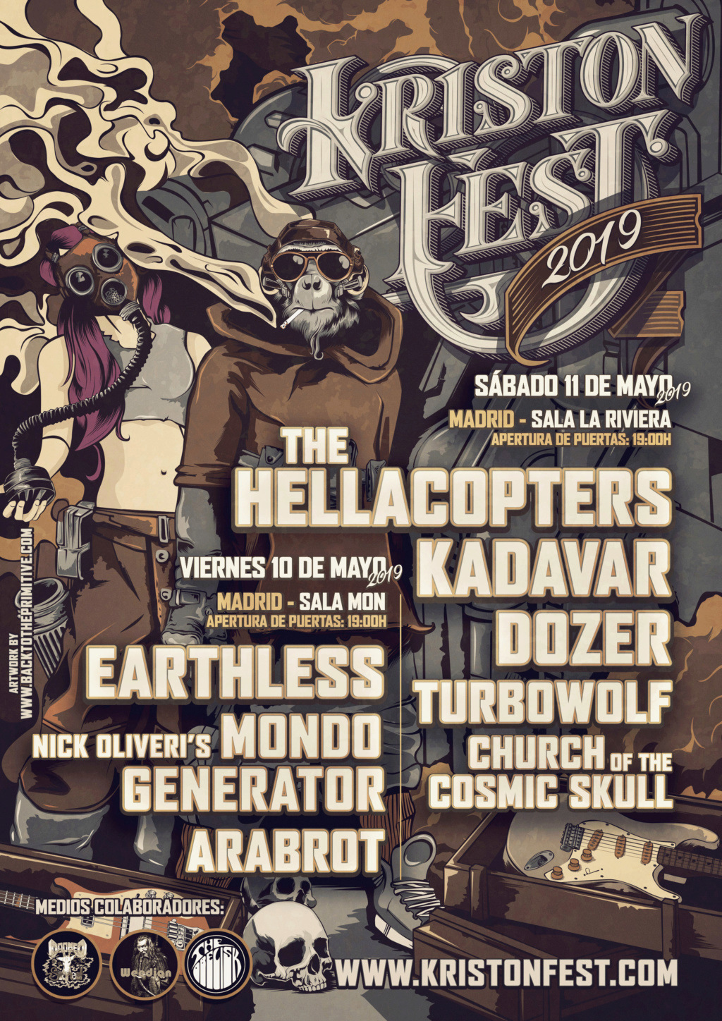 KRISTONFEST (10+11 Mayo, 2019) The Hellacopters, Earthless, Kadavar, Dozer, Nick Oliveri's Mondo Generator, Turbowolf, Church Of The Cosmic Skull y Arabrot - Página 8 Poster11
