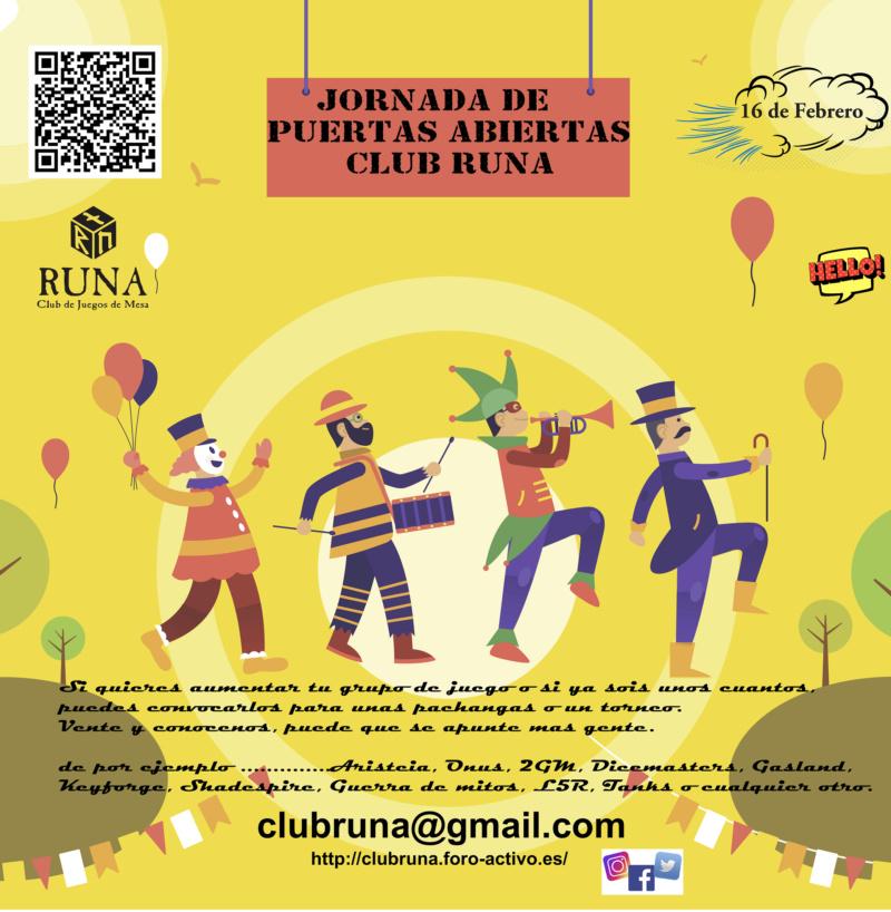 [16-02-2019] JORNADA PUERTAS ABIERTAS próximo SABADO CLUB RUNA MADRID Ven_a_10