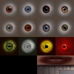 Sugerencia para investigar: cambiar mapeado al elegir una textura en el juego Eyes10