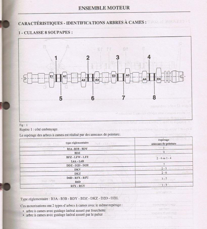 Culasse et Arbre à came de 205 Gti 1.6 et 1.9 Aac10