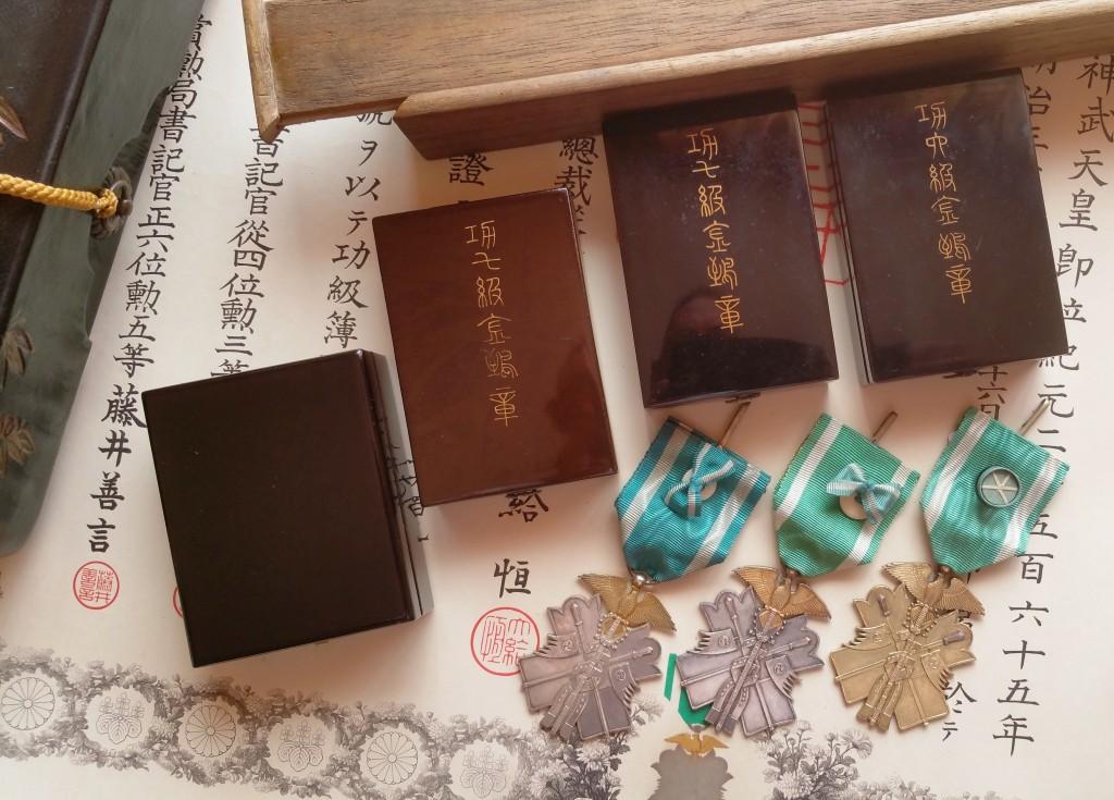 Le milan d'or sous Meiji, Taisho et Showa, les écrins..... 1_mila10